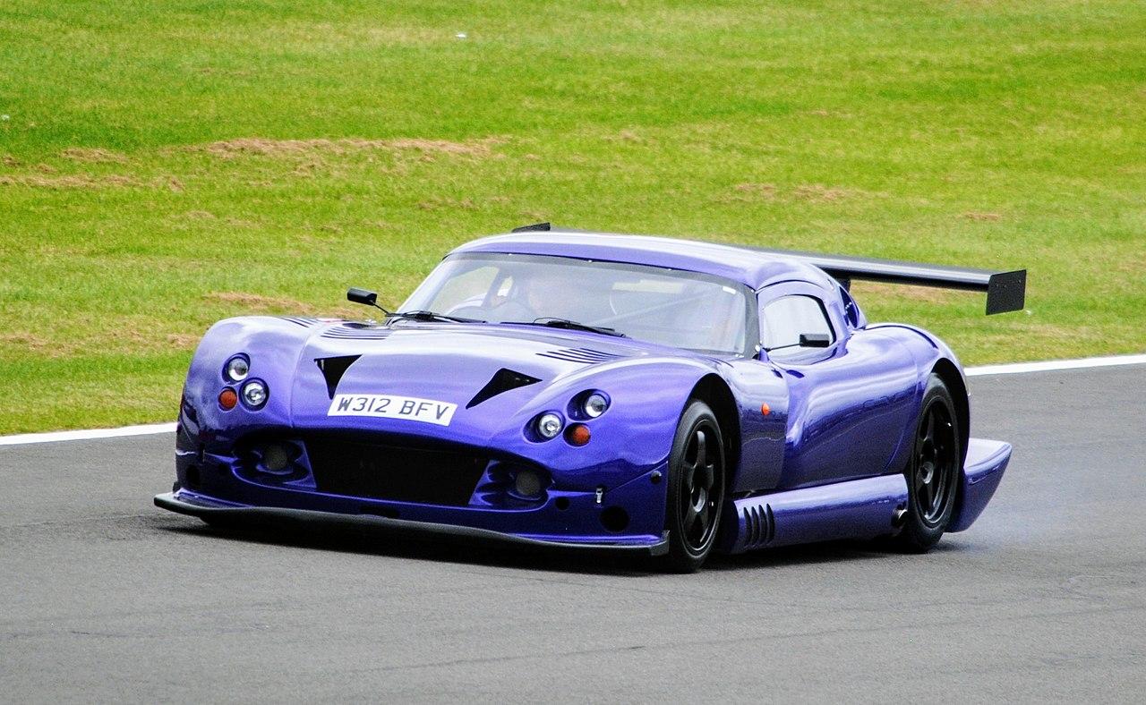 Purple TVR Cerbera Speed 12 at Donington Park