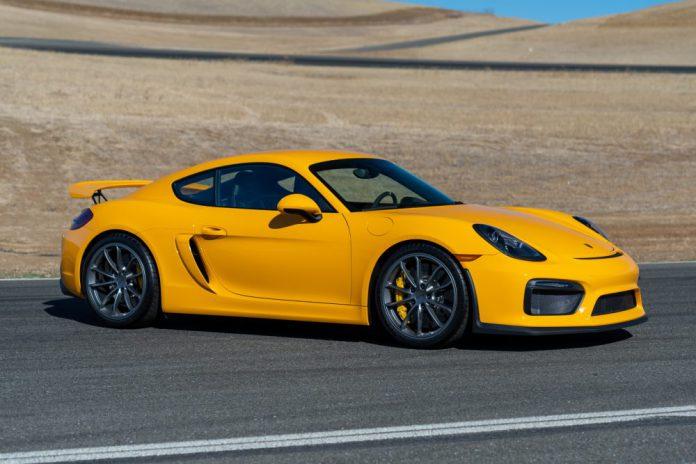 Signal Yellow Porsche Cayman GT4