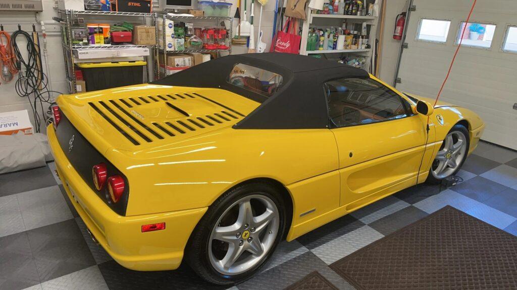 1999 Ferrari F355 Spider for sale rear three-quarter