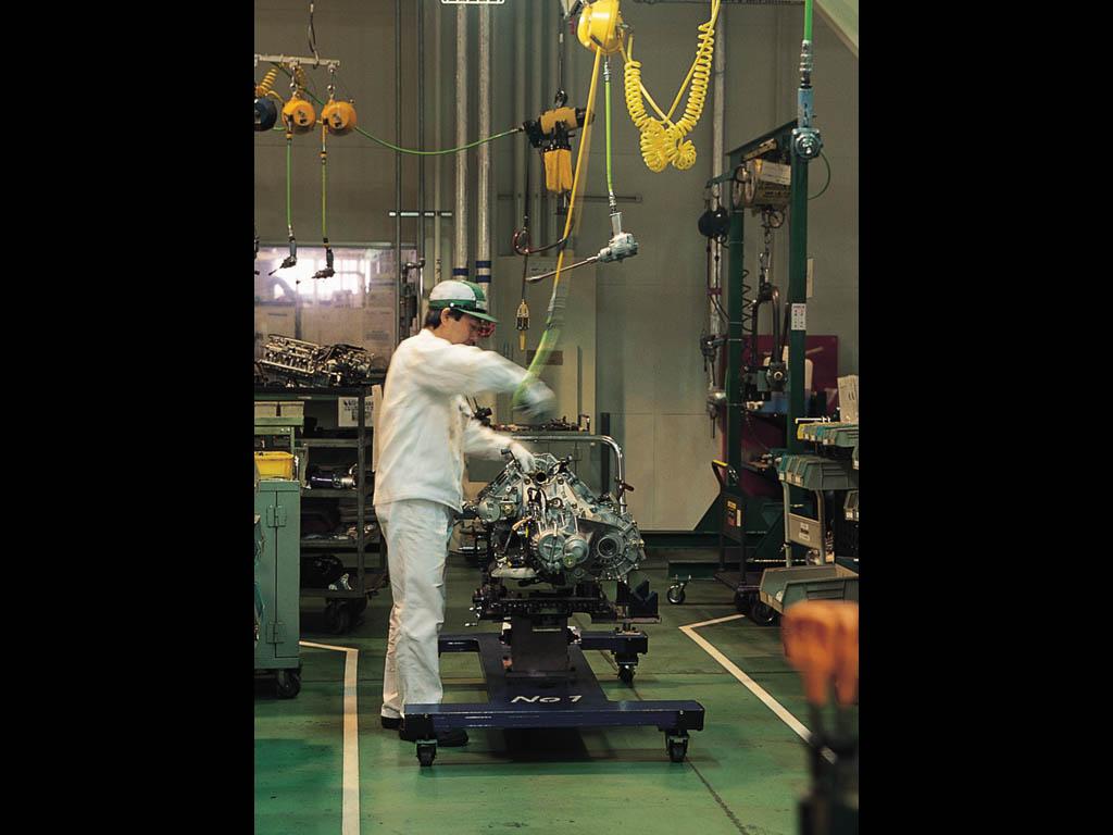 Honda NSX-R engine testing