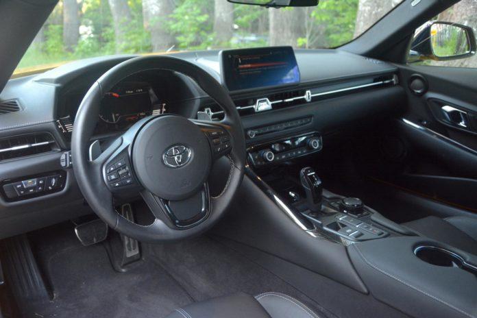 Toyota GR Supra steering wheel