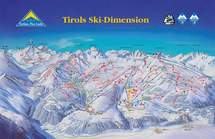 Serfaus-Fiss-Ladis Ski Plan Piste Map