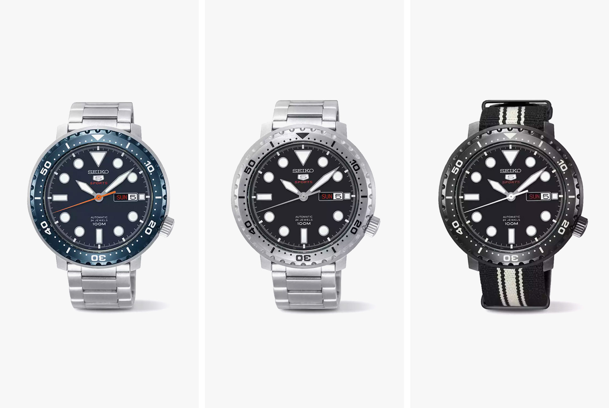 60a1549f5ef Save  210  The SRPC series of Seiko 5 models is based on a diver that  features the Seiko 4R36 24-jewel automatic movement with 41 hours of power  reserve