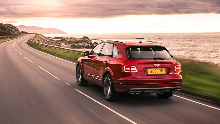 2018 Bentley Bentayga V8 rear