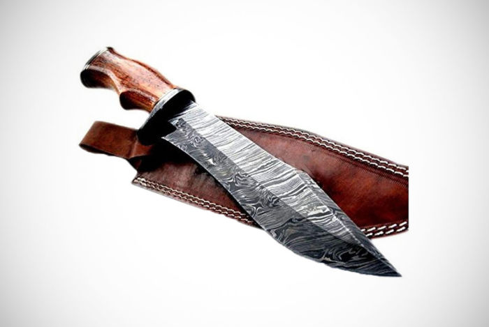 Handmade Damascus Steel 14.00 Inches Bowie Knife