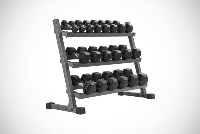 XMark Fitness Dumbbell Rack Plus Weights