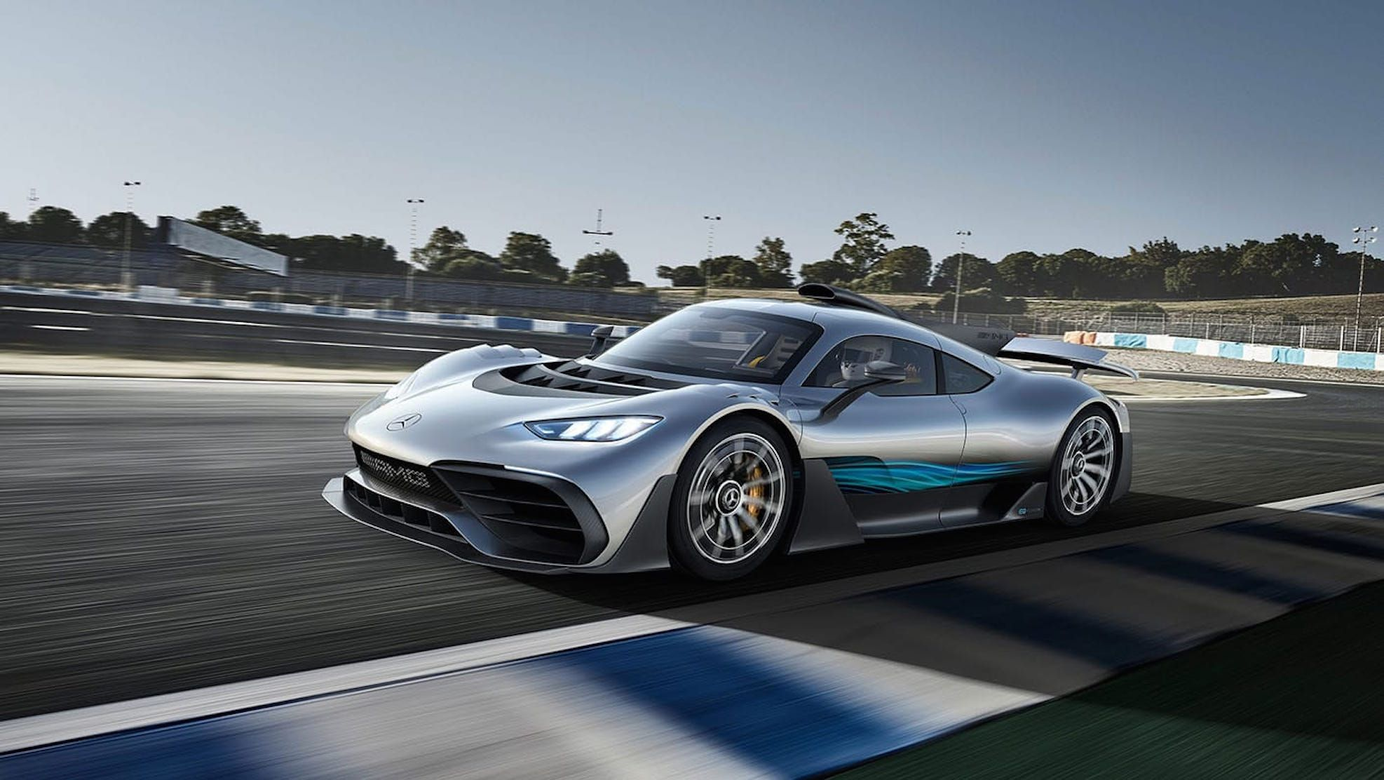 Mercedes AMG Project One at Race Track