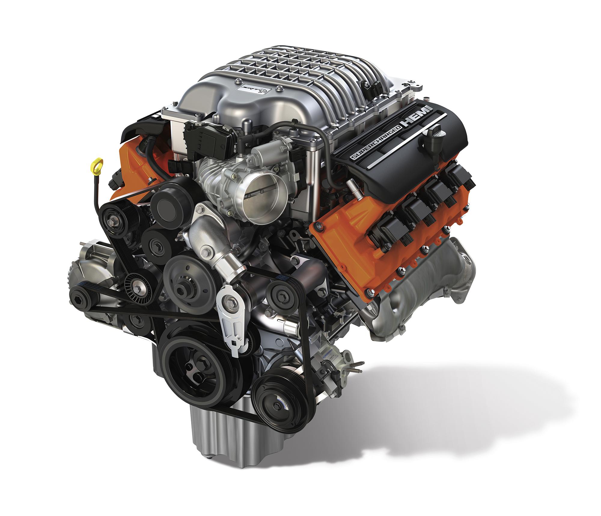 Dodge Supercharted Hemi Engine