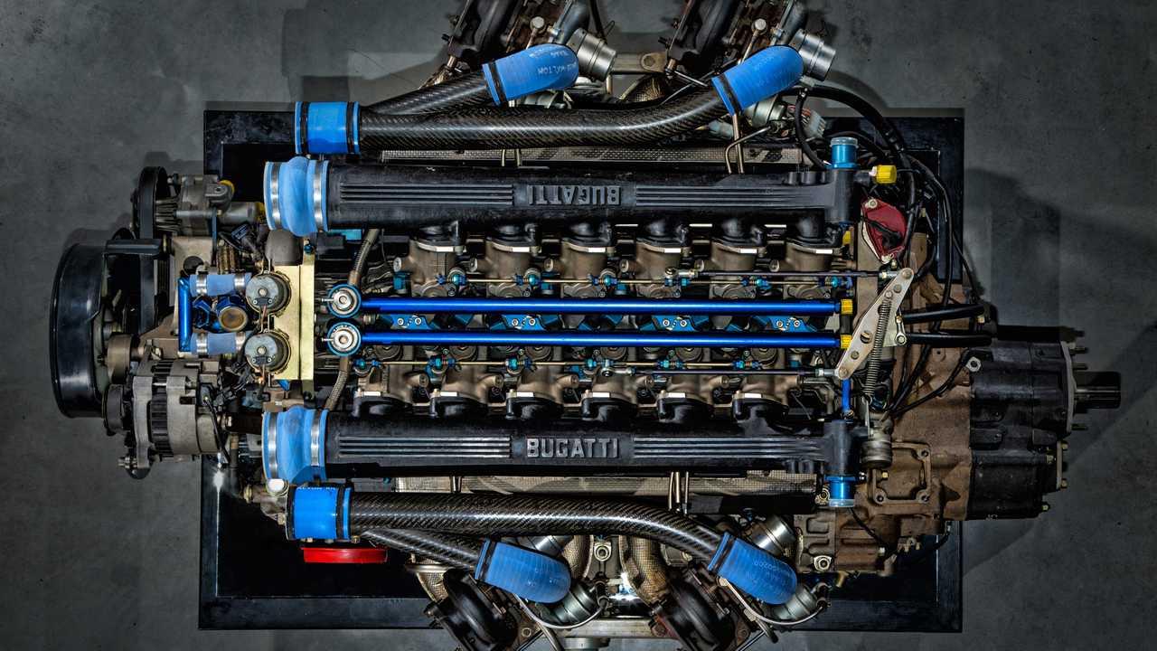 Bugatti 3.5L Quad-Turbocharged V12 Engine