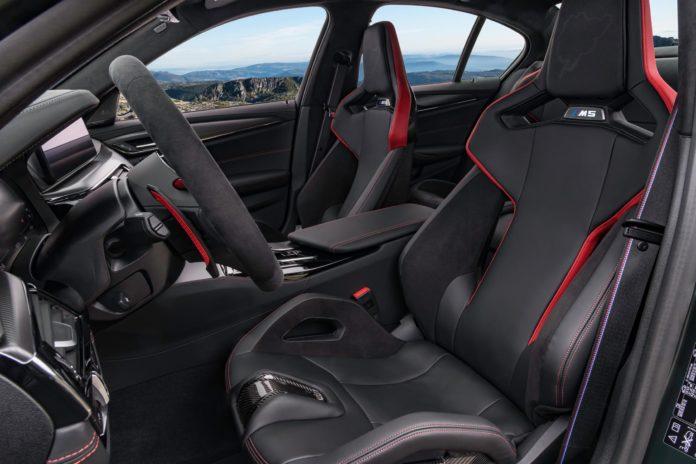 BMW M5 CS seats