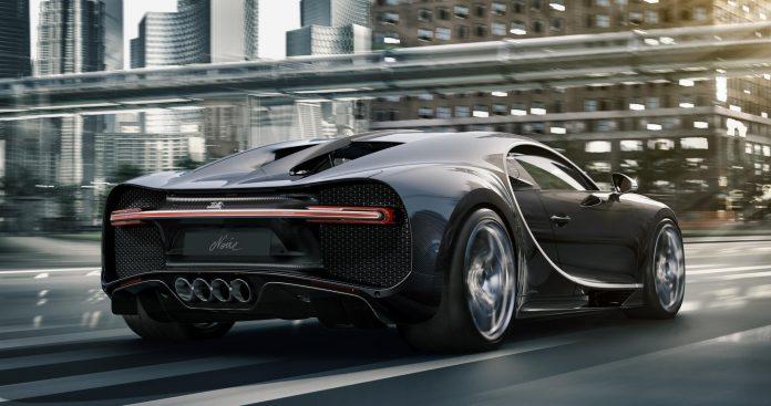 Bugatti Chiron Noire Rear