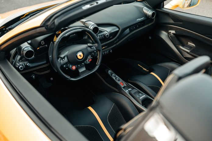 Ferrari F8 Spider Interior with Carbon Racing Seats