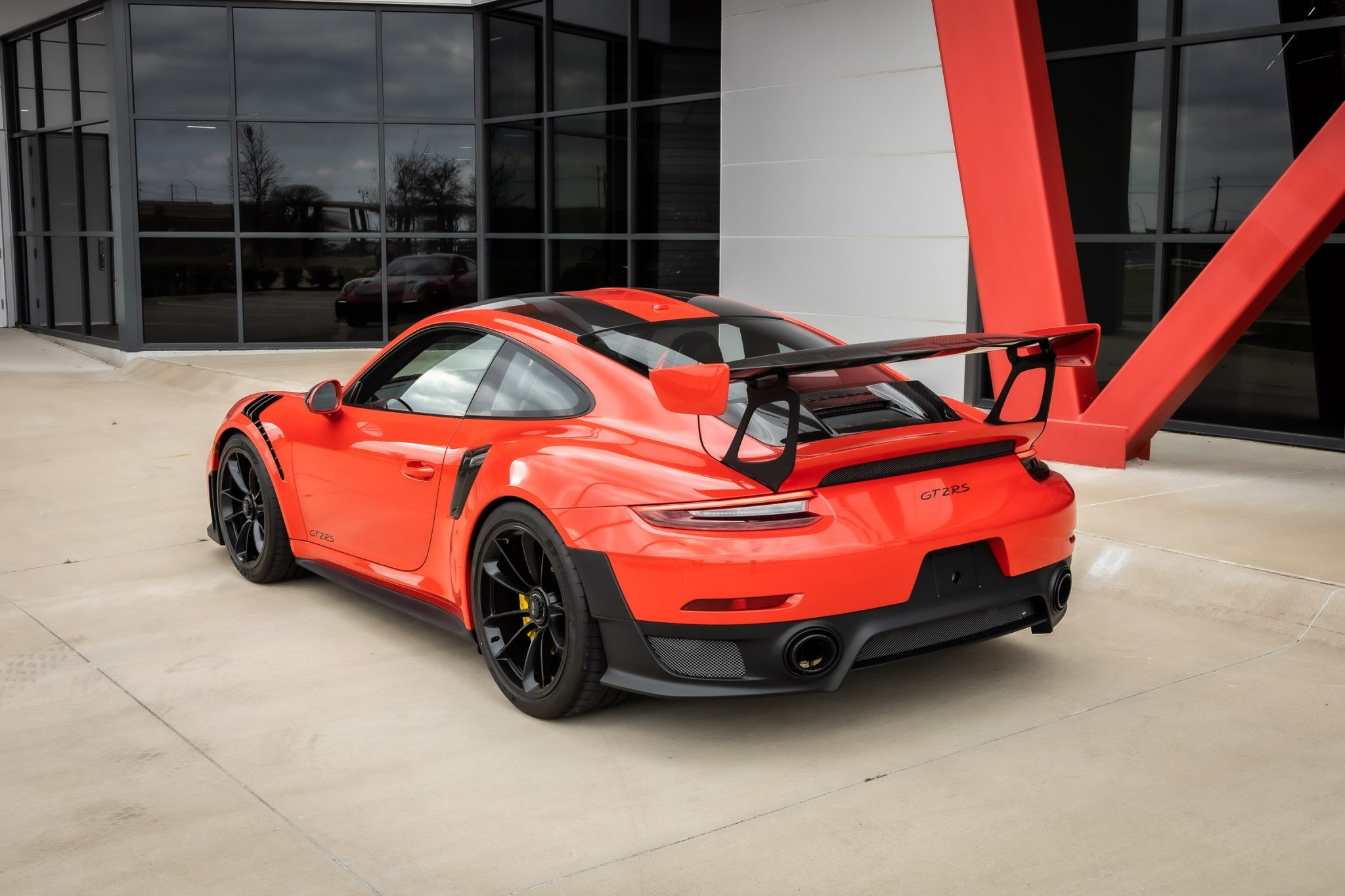 2018 GT2 RS Weissach Rear Angle