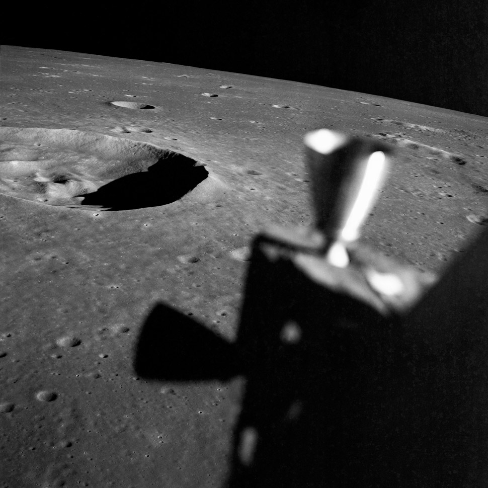 Apollo 10 would get within 9 miles of the lunar surface. So close that NASA intentionally under-fueled the Lunar Module so the two occupants, Stafford and Cernan, wouldn't be able to get home if they were tempted into landing.