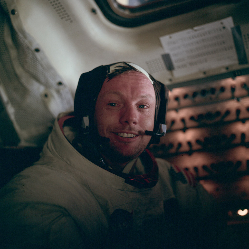 Neil Armstrong after becoming the first man to set foot on the moon.