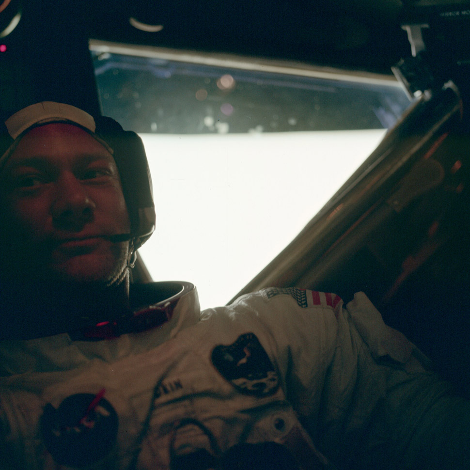 Buzz Aldrin after becoming the second man to set foot on the moon