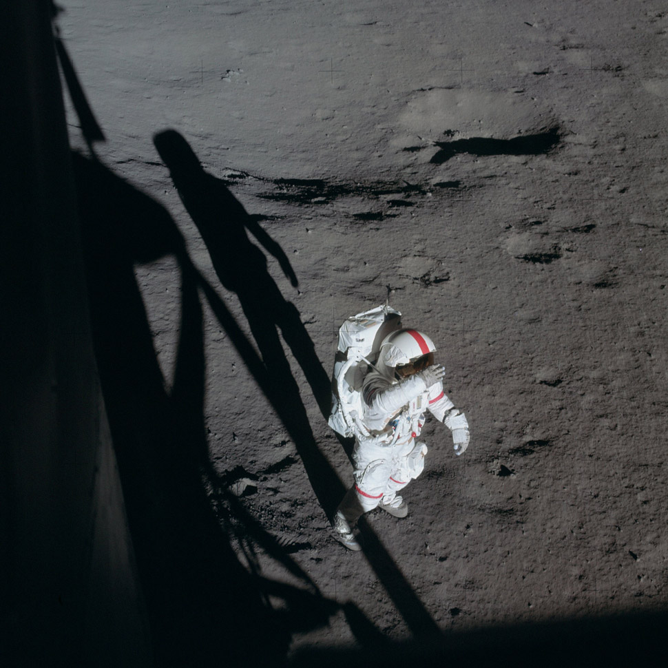 Alan Shepard on the lunar surface.