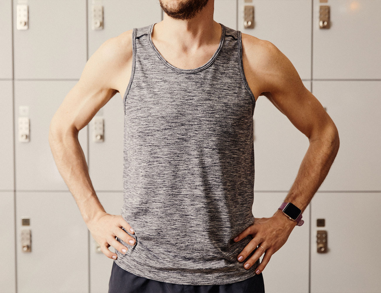 """b583f6cf0d """"[The tee and tank] both fit great for various workouts and Lululemon  always has new and fun colors,"""" Thompson says. The lightweight, breathable  fabric ..."""