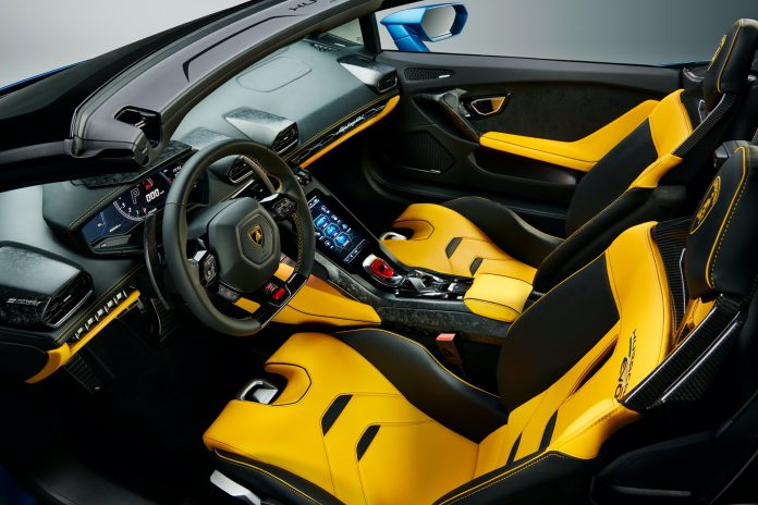 Lamborghini Huracan Evo Rear Wheel Drive Spider Interior