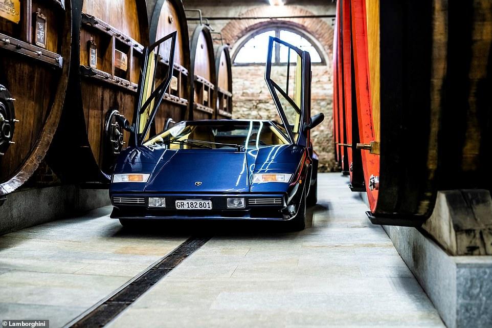 a view of an original Lamborghini Countach