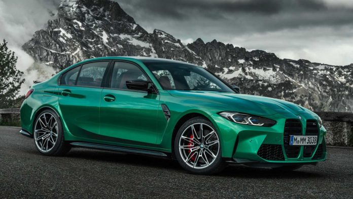 Green 2021 BMW M3