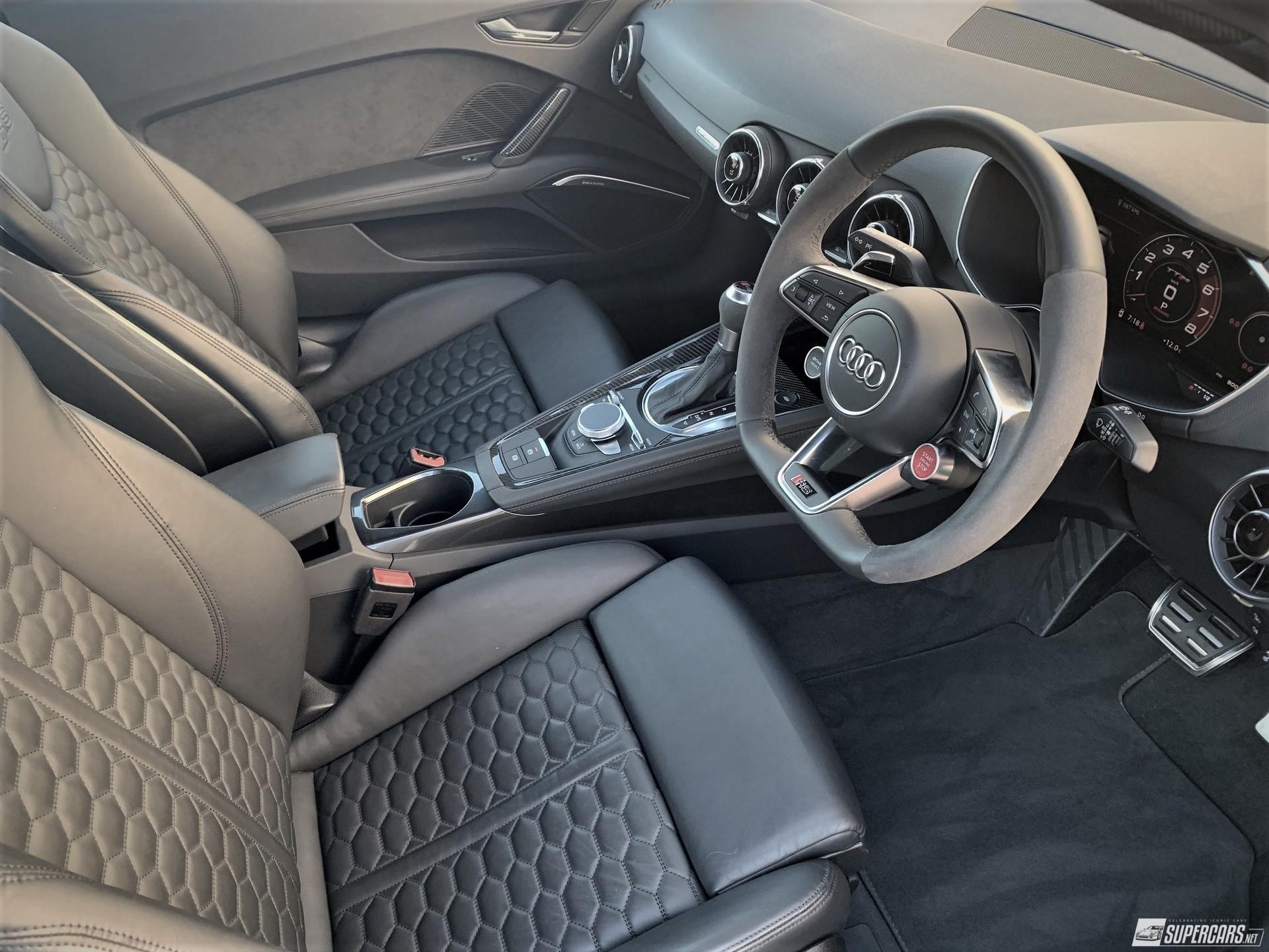 Cabin of 2022 Audi TT RS
