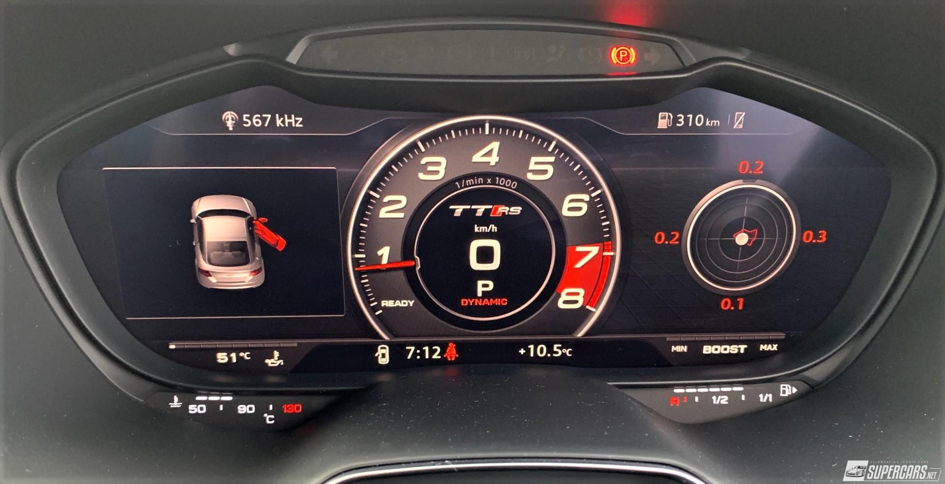 Cabin display of 2022 Audi TT RS