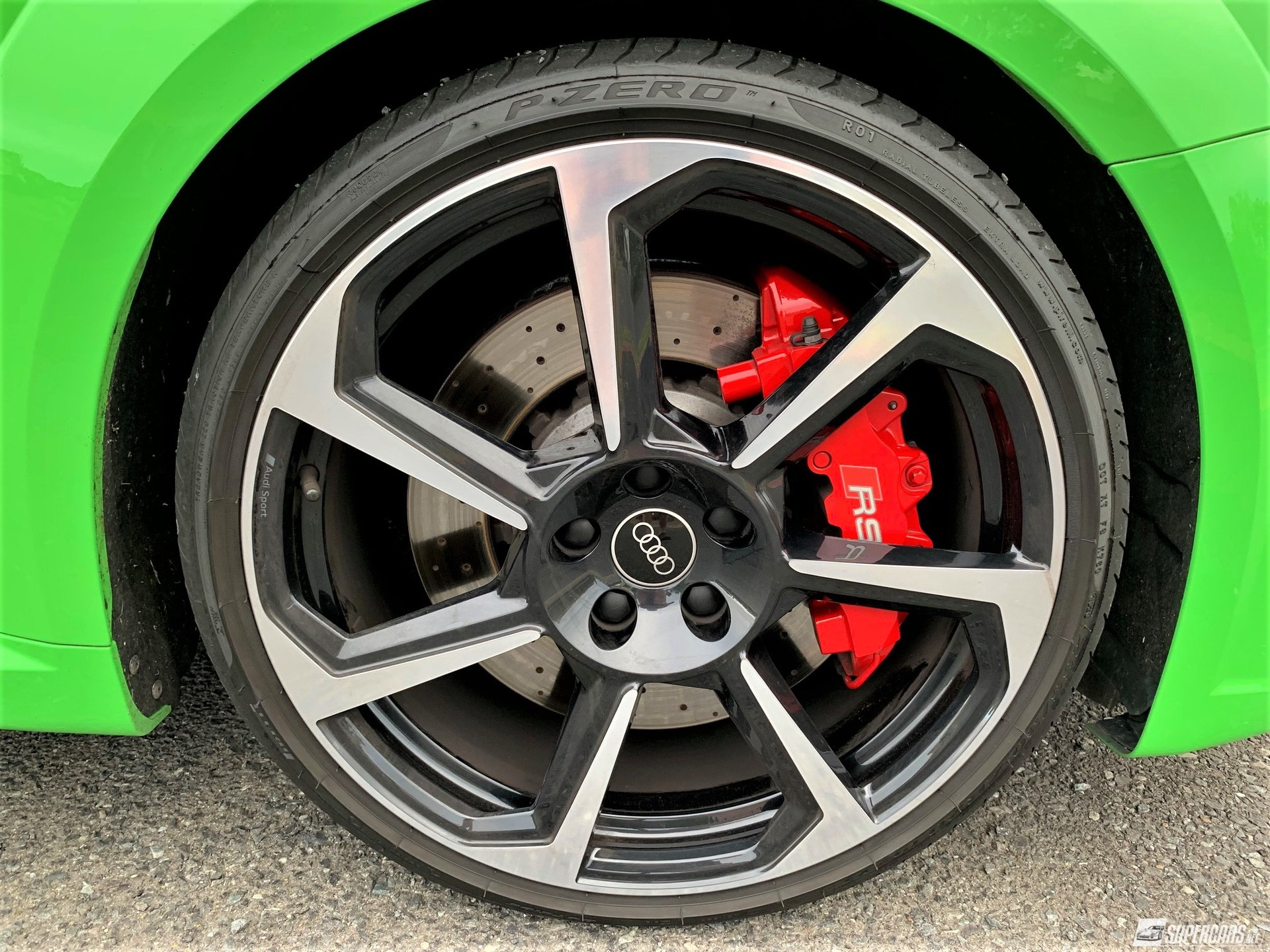 Close-up of tyre on 2022 Audi TT RS
