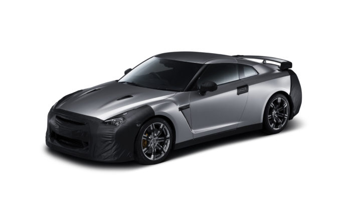 2007 Nissan GT-R with mask