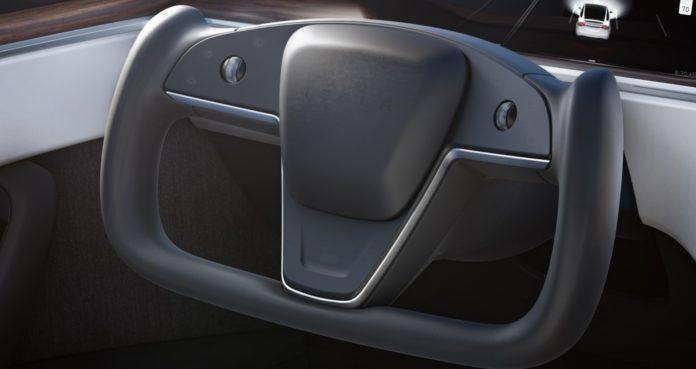 Tesla Model X Plaid steering wheel