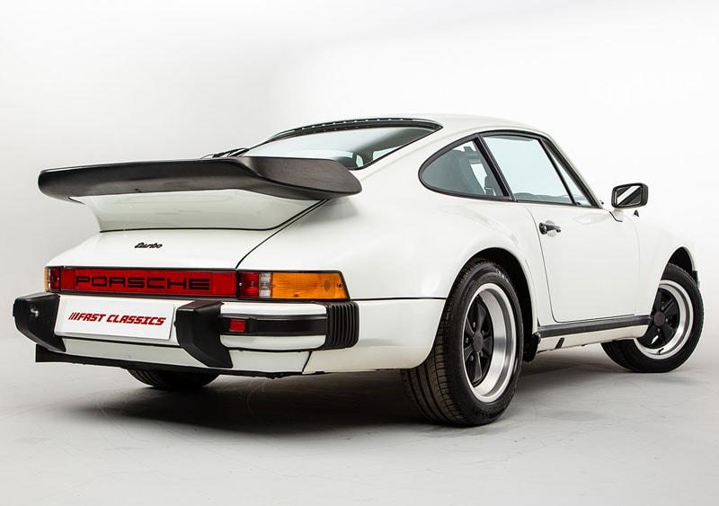 Porsche 911 Turbo 'Whale Tail' on white background