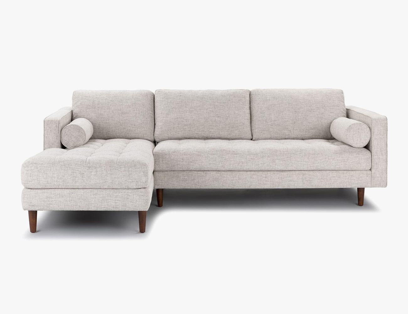 The Most Popular Sofa On A Site With An Actual Mountain Of Options.  Articleu0027s Sven Sectional Sports Tufted Bench Cushions, Clean Lines, Bolster  Pillows And ...