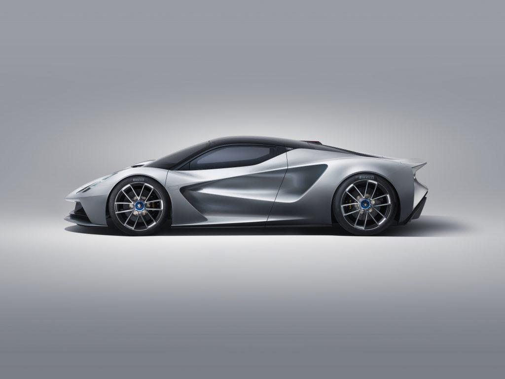 2020 Lotus Evija Side Profile