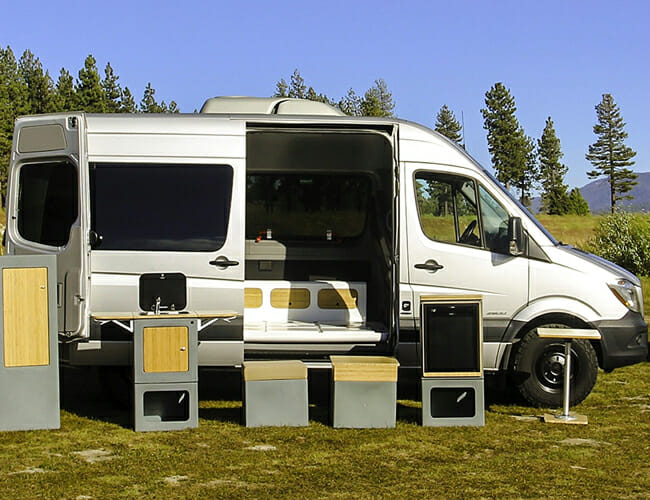 This Camper Van's Interior Is Made of Lego-Like Blocks for Incredible Versatility