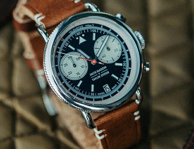 Two Awesome Brands Collaborated on This Aviation-Inspired Chronograph Watch