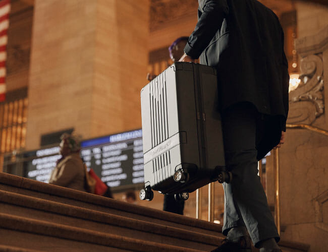 The Luxury Luggage from Montblanc Makes Travel a Breeze