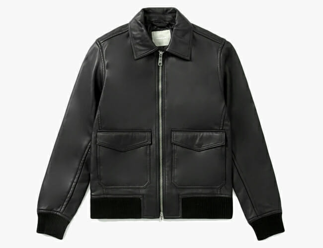 A Lambskin Leather Bomber Jacket for Under $300? Everlane Did That.