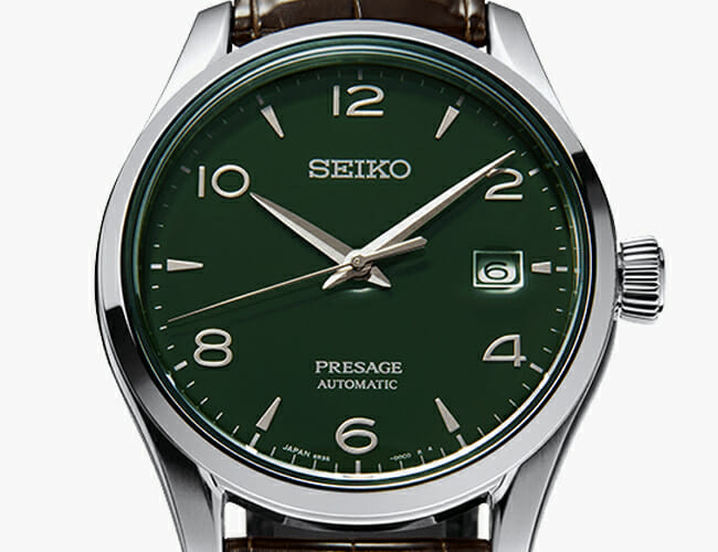 Seiko Nailed the Green Dial Trend with this Enamel Presage Watch