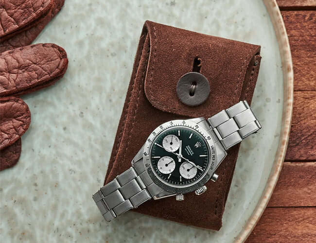 This Leather Pouch Is the Perfect Last-Minute Gift for a Watch Lover