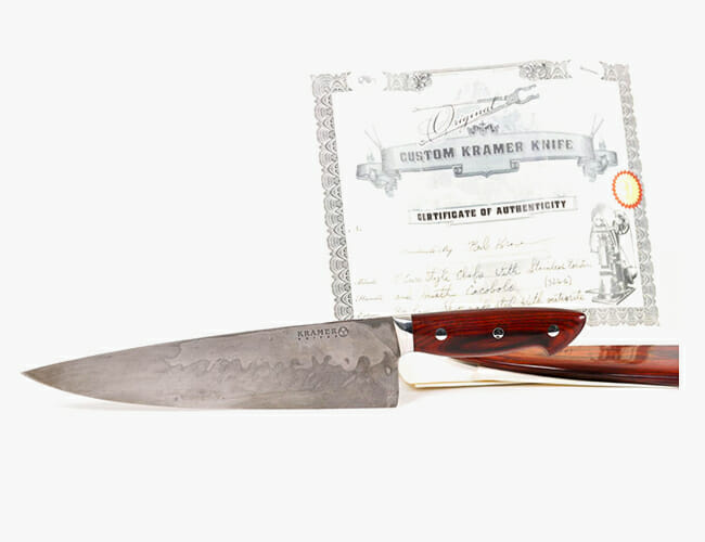 You Can Buy Anthony Bourdain's Chef's Knife, Made with Meteorite