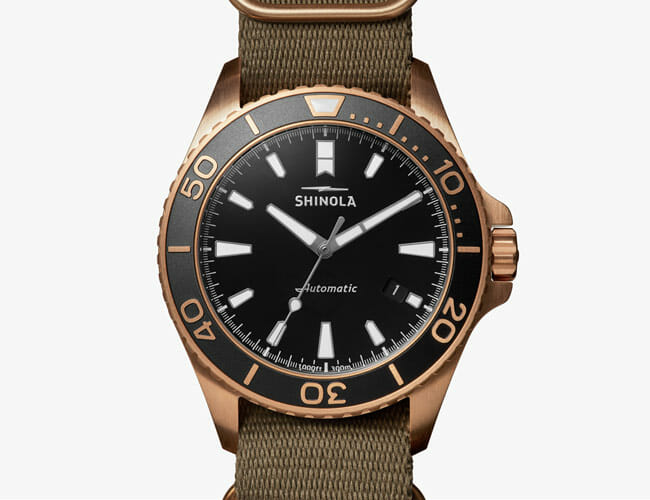 Shinola Debuted Its First Watch with a Bronze Case, and It Looks Killer