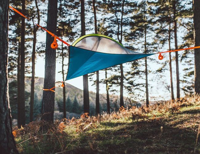 This Hovering Tent Makes Camping in the Rain Less Miserable