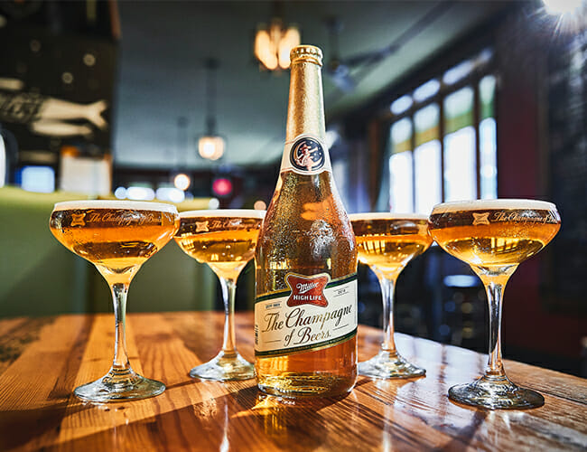 Forget Champagne, We're Drinking This Champagne-Sized Miller High Life on New Year's Eve