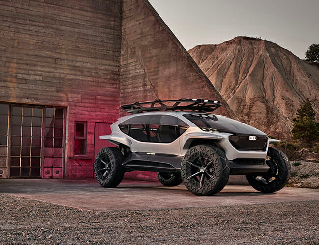 Audi's New Electric Overlanding Concept Uses a Fleet of Drones for Headlights