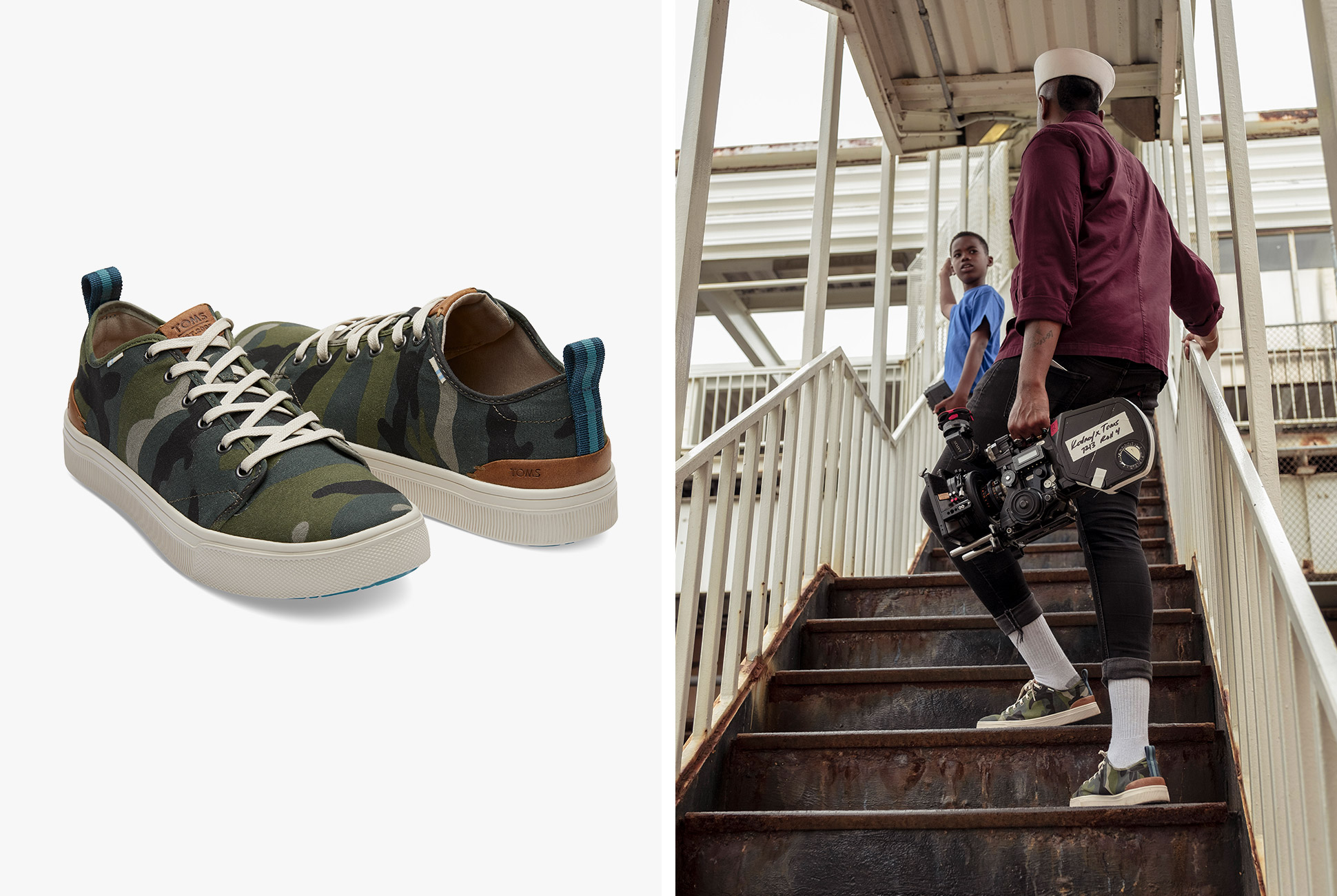 4a047b40384 TOMS Camo Canvas TRVL LITE Low Sneaker With Labor Day in the rearview  mirror