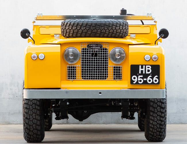 This Vintage Land Rover Was Custom-Made to Carry Motorcycles
