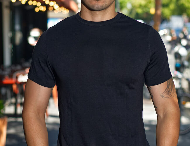 This $165 Merino Wool T-Shirt Is The First of Its Kind
