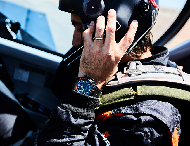 Watch an Aerobatic Pilot Take to the Skies Over Namibia with This Pilot's Watch