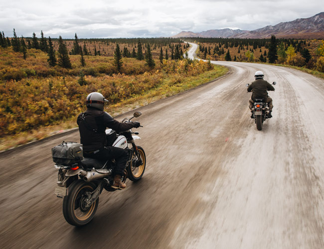 The Best Scramblers on Sale Take on One of America's Greatest Riding Roads