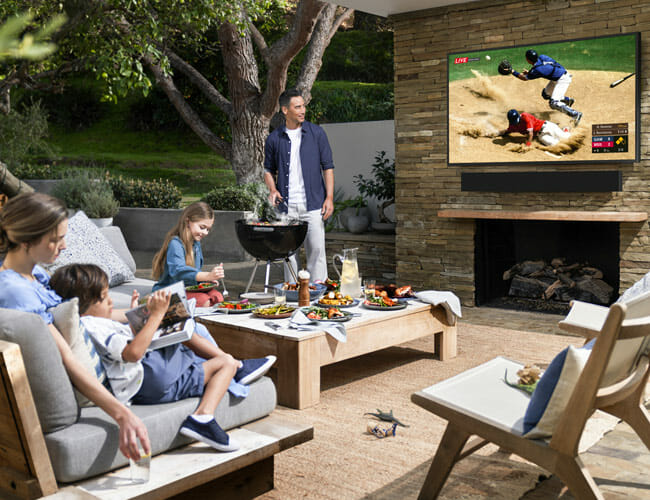 Samsung's Newest 4K TV Is Fit for the Outdoors (Or Your Patio At Least)